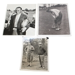1931 Billy Burke Putting, Burke with Trophy, and Alex Herd Photos