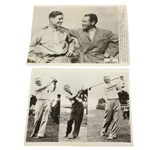 1935 Wire Photos: Nelson & Runyan After 1st Round & Runyan, Wood, & Hunter Photo