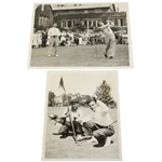 1936 Wire Photos: Zell Eaton After Hole-In-One & Defending Champ Parks Tee-off