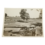 1939 US Open Wire Photo of Lawson Little Putting