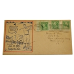 Bobby Jones Signed 1933 Augusta National GC First Day Cover - Rare Signed! JSA ALOA