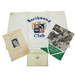1952 US Open Championship Items - Flag, Scorecard, Booklets, Signed Cut JSA ALOA