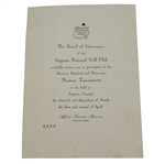 1939 Masters Tournament Player Invitation Letter