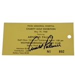 Arnold Palmer Signed 1968 Charity Golf Exhibition Ticket #892 JSA ALOA
