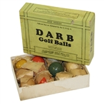 Dozen The DARB Golf Balls Made by Bon Dee Golf Ball Co. - Yellow, Orange, Green , & White Colored Mesh