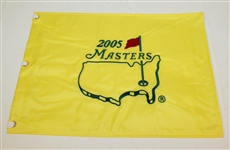 2005 & 2006 Embroidered Masters Flags - Tiger and Phil Wins