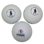 Three Golf Balls - Two Golf Memorabilia Collector Logo and One 1994 Fantasy Golf Challenge Logo