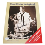 Arnold Palmer Signed 1994 PaineWebber Invitational Program JSA #P36713
