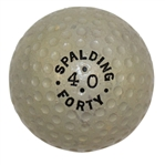 1918 Spalding Forty Ball - Black