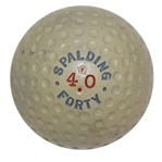 1918 Spalding Forty Ball - Blue and Red