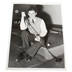 1938 Photo of John Homans and His Swing Corrector Putter