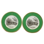 Augusta National Clubhouse Wedgwood Bone China Ltd Ed Plates #115 and #116 - Made in England