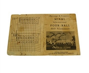 1949 Miami International Four-Ball Tournament Pairings and Program - Middlecoff and Ferrier