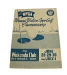 1956 Womens Western Golf Tournament Program