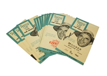 Full Set of 11 Teeing Off with Sam Snead Pamphlets - One Signed by Sam Snead JSA ALOA