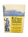 1941 Los Angeles Open Program with Champ  Johnny Bulla Signed Cut JSA ALOA