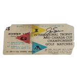 Jack Nicklaus Signed 1966 Intl Trophy and Canada Cup Ticket-Contested in Tokyo- Seldom Seen! JSA ALOA