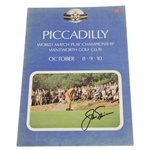 Jack Nicklaus Signed 1970 Piccadilly World Match Play Program JSA ALOA