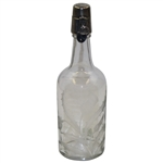 Circa 1900 Hawkes Sterling Thistle on Glass Bottle