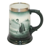 Lenox Mug- Female Golfer- Silver Rim - R. Wayne Perkins Collection
