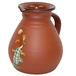 Wedgwood Terracotta Pitcher - Female Golfer - R. Wayne Perkins Collection