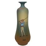 Weller Dickensware Vase- Male Golfer - R. Wayne Perkins Collection