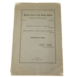 1913 Haskell Golf Ball Company Legal Brief Belonging to Mrs. Haskell - Jeff Ellis Collection