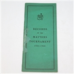 Official 1950 Records of the Masters Tournament Booklet