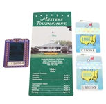 1994 Masters Badge & Pamphlet with Two 1995 Masters Badges
