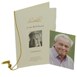 Arnold Palmer Funeral Service Program Including Photo