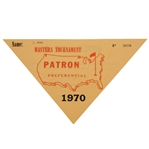 1970 Masters Tournament Preferential Patron Sticker Issued to John Derr #P3809