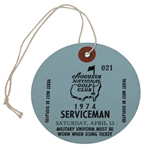 1974 Masters Tournament Saturday SERVICEMAN Ticket #021 - Low Number