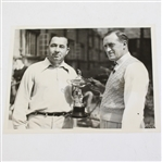 Walter Hagen & Charles Whitcombe Ryder Cup Captains Sep 30, 1935 Wire Photo