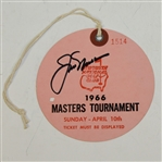 Jack Nicklaus Signed 1966 Masters Sunday Ticket #1514 JSA ALOA