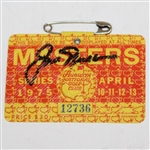 Jack Nicklaus Signed 1975 Masters Series Badge #12736 JSA ALOA