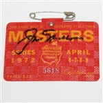 Jack Nicklaus Signed 1972 Masters Series Badge #5618 JSA ALOA