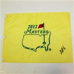 Bubba Watson Signed 2012 Masters Embroidered Flag JSA ALOA