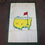 Jack Nicklaus & Gary Player Signed Undated Masters House Flag JSA ALOA