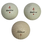 Jack Flecks 3 PGA Tour Winning Final Putt Golf Balls - 1955 US Open Win Over Ben Hogan