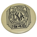 1946 US Open at Canterbury GC Contestant Pin - Lloyd Mangrum Winner
