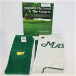 Augusta National & The Masters Frank Christian Book with Two Masters Bag Towels