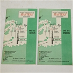 Two 1986 Masters Tournament Spectator Guides - Nicklaus 6th Masters Victory