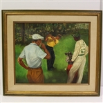 Ben Hogan & Sam Snead at The Masters Print - Undated & Unmarked - Framed