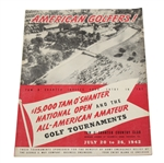 1942 National Open & All-American Amateur Golfer Invitation Pamphlet - Seldom Seen - Roth Collection