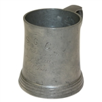 1899 S.G.C. Mixed Foursome Pewter Tankard Trophy - O.J. Ives - May 30th - Roth Collection
