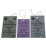 1967, 1972, & 1980 US Open Tickets - Nicklaus Three of Four US Open Wins