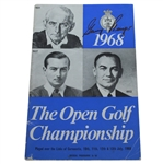 Gary Player Signed 1968 Open Championship at Carnoustie Program JSA ALOA