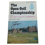 Jack Nicklaus Signed 1970 Open Championship at St. Andrews Program JSA ALOA