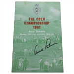 Arnold Palmer Signed 1961 Open Championship at Royal Birkdale Program JSA ALOA