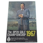Roberto de Vicenzo Signed 1967 Open Championship at Royal Liverpool Program JSA ALOA